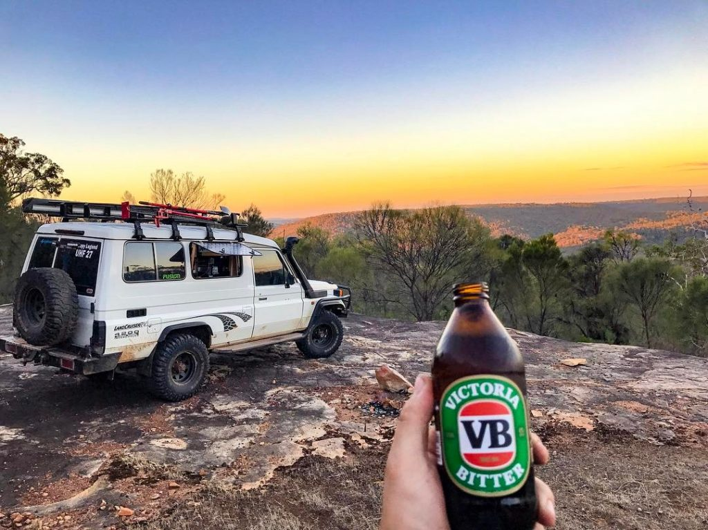 troopcarrier with a view travelling around australia