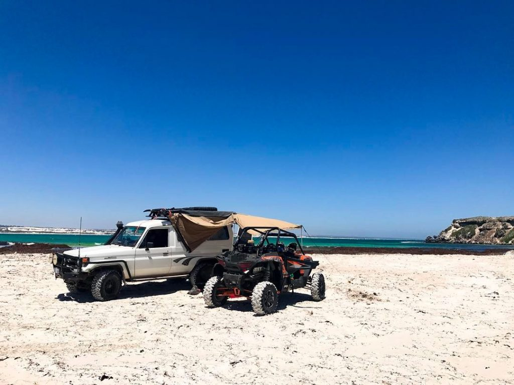 troopcarrier in western australia with quad bike